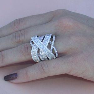 Jewelry - Beautiful White Sapphire White Gold Plated Ring